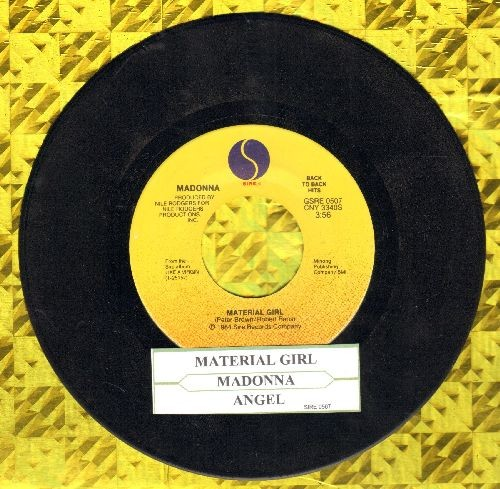 Madonna - Material Girl/Angel ((double-hit re-issue with juke box label) - EX8/ - 45 rpm Records