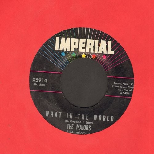 Majors - What In The World/Anything You Can Do - EX8/ - 45 rpm Records