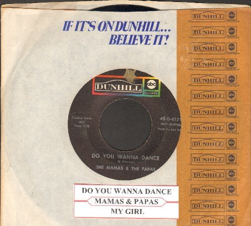 Mamas & Papas - Do You Wanna Dance/My Guy (with company sleeve and juke box label) - VG7/ - 45 rpm Records