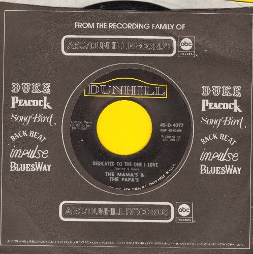 Mamas & Papas - Dedicated To The One I Love/Free Advice (with company sleeve) - NM9/ - 45 rpm Records