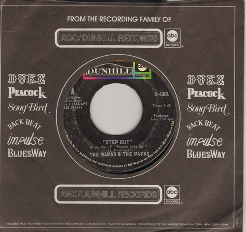 Mamas & Papas - Step Out/Shooting Star (with ABC/Dunhill company sleeve) - EX8/ - 45 rpm Records