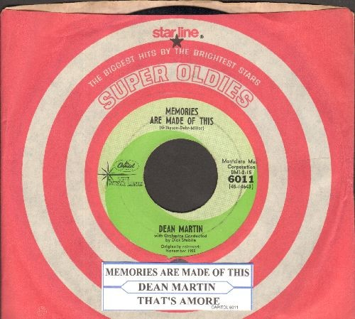 Martin, Dean - Memories Are Made Of This/That's Amore (double-hit re-issue with juke box label and Capitol company sleeve) - EX8/ - 45 rpm Records