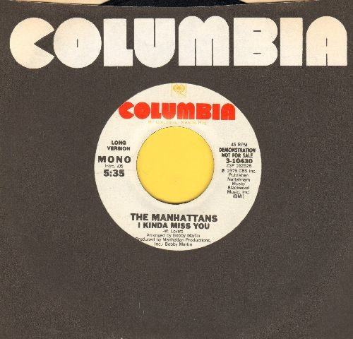 Manhattans - I Kinda Miss You (double-A-sided MONO DJ advance pressing) (with Columbia company sleeve) - NM9/ - 45 rpm Records