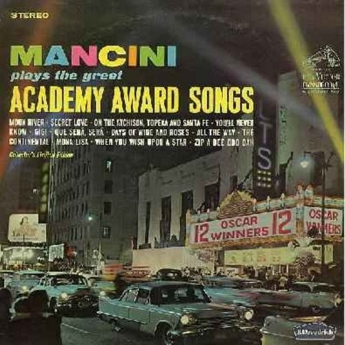 Mancini, Henry & His Orchestra - Academy Award Winning Songs: Moon River, Secret Love, You'll Never Know, Gigi, Que Sera Sera, Mona Lisa, The Continental, When You Wish Upon A Star (Vinyl STEREO LP record, Dynagroove) - NM9/EX8 - LP Records