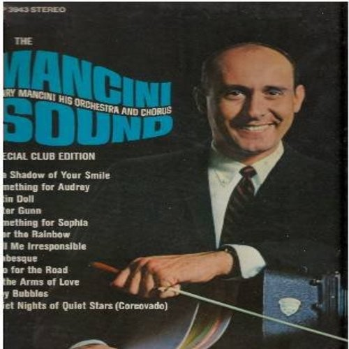 Mancini, Henry & Orchestra & Chorus - The Mancini Sound: Peter Gunn, Satin Doll, Over The Rainbow, Tiny Bubbles, Something For Audrey, Something For Sophia (Vinyl STEREO LP record) - EX8/EX8 - LP Records