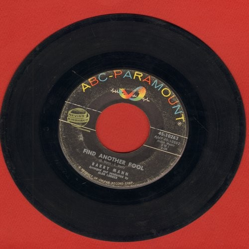Mann, Barry - Find Another Fool/Little Miss U.S.A. (sol) - VG7/ - 45 rpm Records