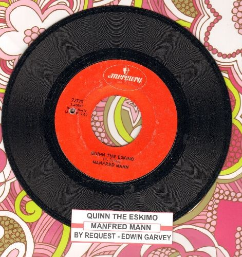 Mann, Manfred - Quinn The Eskimo/By Request -Edwin Garvey (with juke box label) (bb) - EX8/ - 45 rpm Records