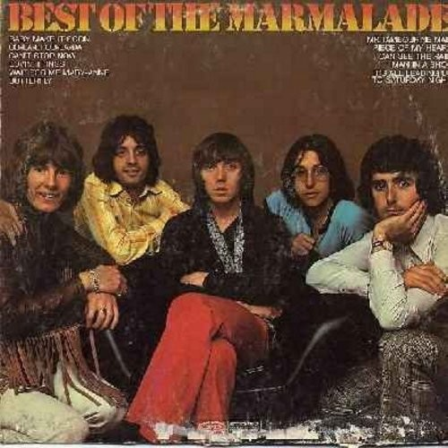 Marmalade - Best Of: Ob-La-Di Ob-La-Da, Can't Stop Now, Mr. Tambourine Man, Piece Of My Heart (Vinyl STEREO LP record, DJ advance copy, mint condition vinyl, cover has water damage on bottom) - NM9/VG7 - LP Records