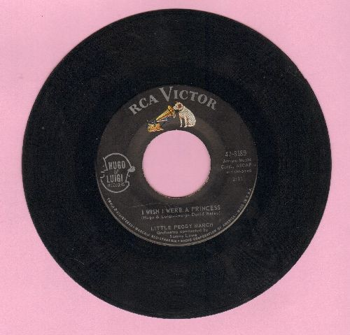 March, Little Peggy - I Wish I Were A Princess/My Teenage Castle (with picture sleeve) - NM9/EX8 - 45 rpm Records