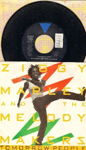Marley, Ziggy & The Melody Makers - Tomorrow People/We A Guh Some Weh (with picture sleeve) - NM9/EX8 - 45 rpm Records