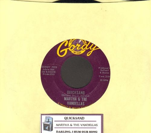 Martha & The Vandellas - Quicksand/Darling, I Hum Our Song (with juke box label) - NM9/ - 45 rpm Records