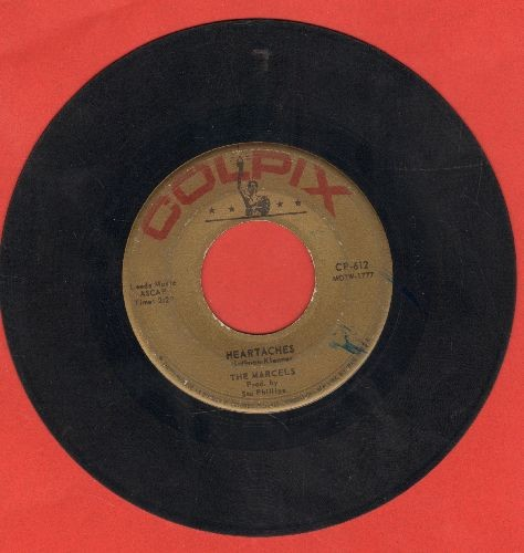 Marcels - Heartaches/My Love For You - VG6/ - 45 rpm Records