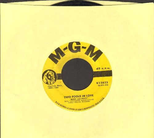 Marv & Patty - Two Fools In Love/Because I'm A Dreamer - EX8/ - 45 rpm Records