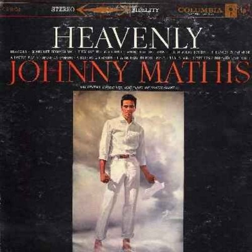 Mathis, Johnny - Heavenly: Moonlight Becomes You, They Say It's Wonderful, Hello Young Lovers, Stranger In Paradise, Misty, That's All (Vinyl LP record) - EX8/EX8 - LP Records