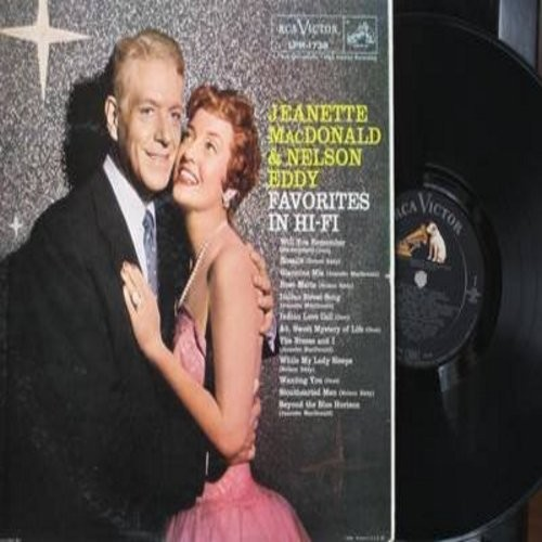 MacDonald, Jeanette & Nelson Eddy - Favorites In Hi-Fi: Indian Love Call, The Breeze And I, Ah Sweet Mystery Of Life, Beyond The Blue Horizon (Vinyl MONO LP record) - NM9/EX8 - LP Records