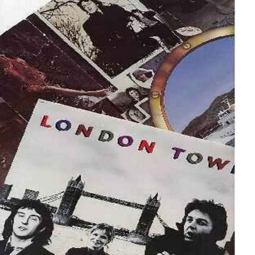 Wings - London Town: With A Little Luck, Don't Let It Bring You Down, Morse Moose And The Grey Goose, Café On The Left Bank, Cuff Link (Vinyl LP record, with BONUS Giant Poster) - M10/EX8 - LP Records