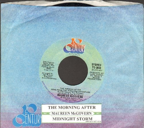 McGovern, Maureen - The Morning After (From The Poseidon Adventure - 1973 Oscar Winner Best Song!)/Midnight Storm (with juke box label and 2oth Century company sleeve) - NM9/ - 45 rpm Records