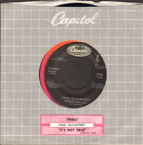 McCartney, Paul - Press/It's Not True (with company sleeve and juke box label) - NM9/ - 45 rpm Records