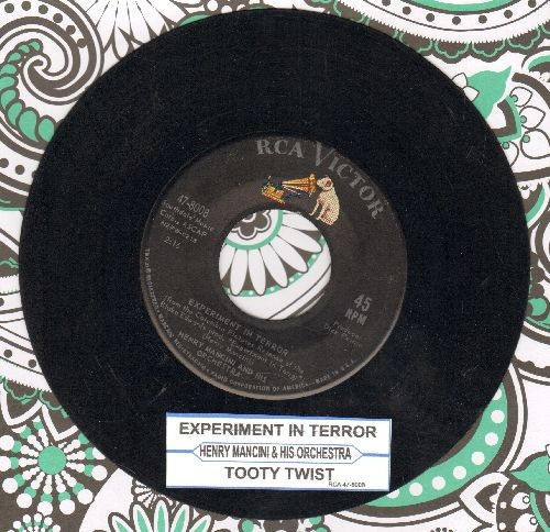Mancini, Henry & His Orchestra - Experiment In Terror/Tooty Twist (with juke box label) - VG7/ - 45 rpm Records