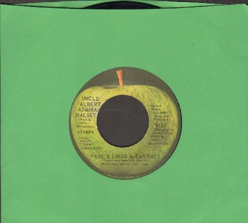 McCartney, Paul & Linda - Uncle Albert/Admiral Halsey/Too Many People (with juke box label) - EX8/ - 45 rpm Records