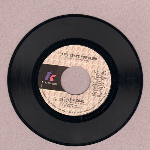 McCrae, George - I Can°t Leave You Alone/I Get Lifted - NM9/ - 45 rpm Records