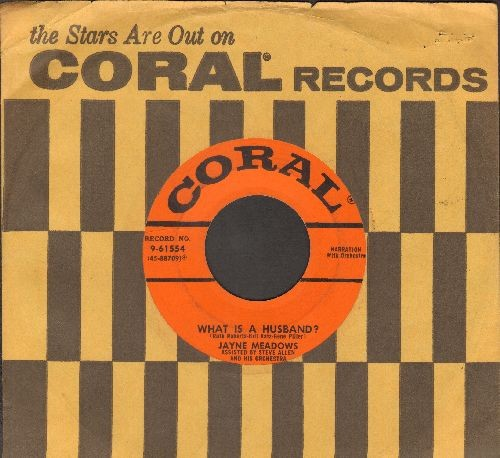 Allen, Steve - What Is A Wife?/What Is A Husband? (with Coral company sleeve) - VG7/ - 45 rpm Records