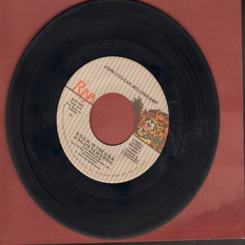 Mellencamp, John Cougar - R.O.C.K. In The U.S.A. (A Salute To 60s Rock)/Under The Boardwalk - VG7/ - 45 rpm Records