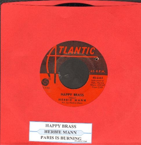 Mann, Herbie - Is Paris Burning?/Happy Brass (with juke box label)(bb) - NM9/ - 45 rpm Records