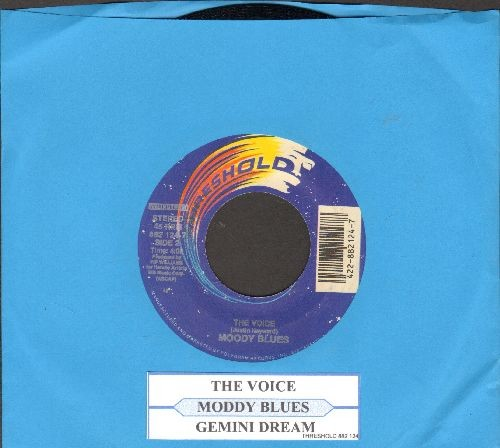Moody Blues - The Voice/Gemini Dream (authentic-looking double-hit re-issue with juke box label) - NM9/ - 45 rpm Records