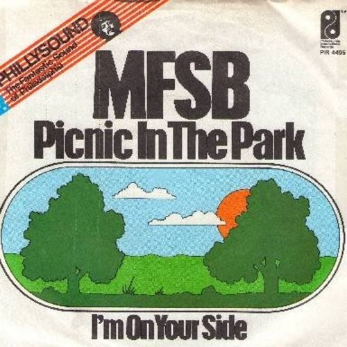 MFSB - Picnic In The Park/I'm On Your Side (German Pressing with picture sleeve) - NM9/VG7 - 45 rpm Records