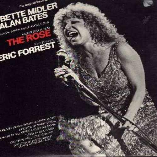 Midler, Bette - The Rose - Original Motion Picture Sound Track featuring legendary title song by Bette Midler (Vinyl STEREO LP record) - EX8/EX8 - LP Records