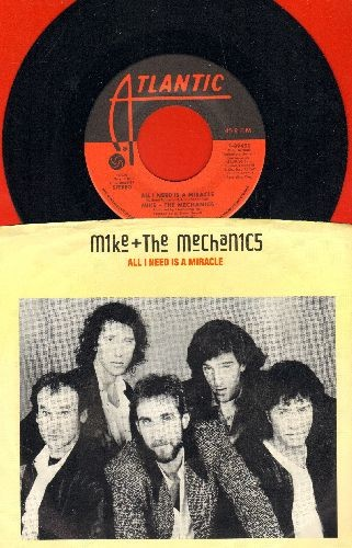 Mike & The Mechanics - All I Need Is A Miracle/You Are The One (with picture sleeve) - EX8/EX8 - 45 rpm Records