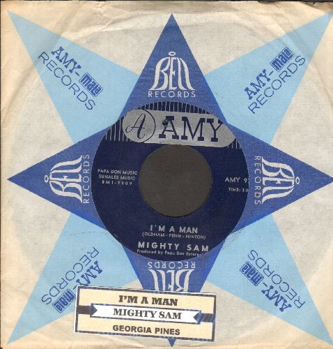 Mighty Sam - I'm A Man/Georgia Pines (RARE Soul 2-sider with vintage Amy company sleeve) - NM9/ - 45 rpm Records