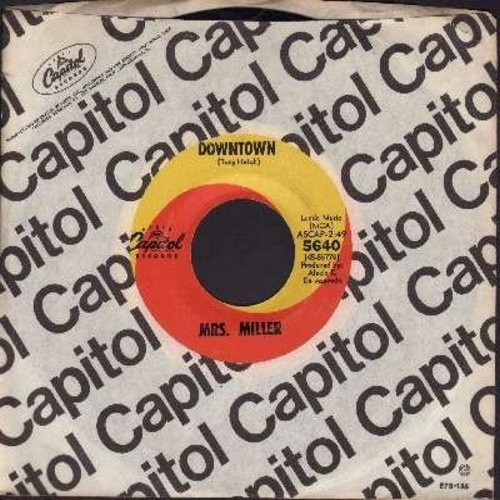 Miller, Mrs. - Downtown/A Lover's Concerto (the hilarious original two-sided one-hit-wonder 45 by America's Favorite tone-deaf Grandma!) (with vintage Capitol company sleeve) - NM9/ - 45 rpm Records