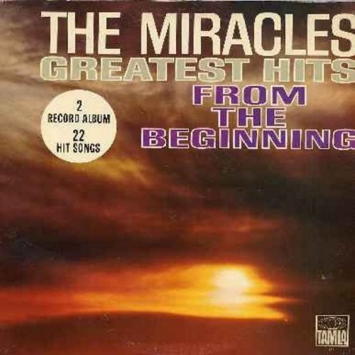 Miracles - Greatest Hits From The Beginning: Got A Job, Mama Done Told Me, Bad Girl, Shop Around, You've Really Got A Hold On Me, Mickey's Monkey, I Like It Like That (2 vinyl MONO  LP record set, gate-fold cover, NICE condition! - counts as 2 LPs) - NM9/