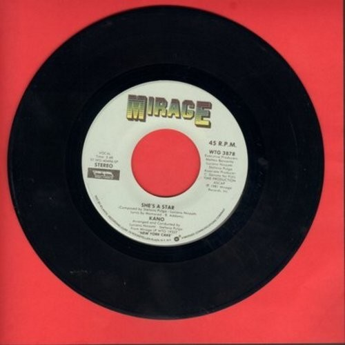 Kano - She's A Star/Can't Hold Back (Your Loving) - EX8/ - 45 rpm Records