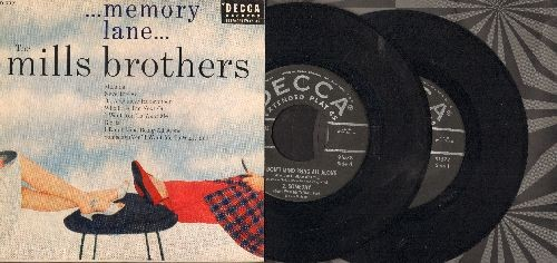 Mills Brothers - Memory Lane: Manana/Gloria/On A Chinese Honeymoon/Nevertheless + 4 (2 vinyl EP records with gate-fold picture cover) - EX8/EX8 - 45 rpm Records