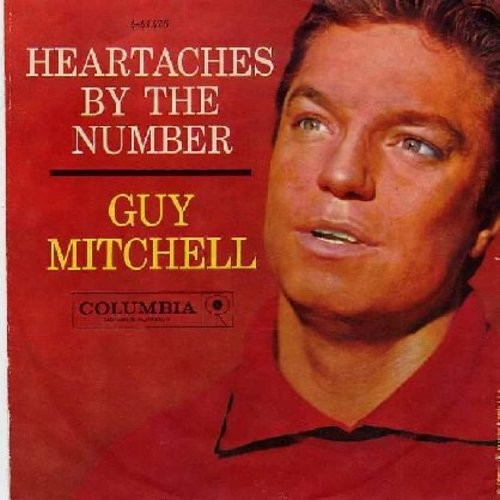 Mitchell, Guy - Heartaches By The Number/Two (with picture sleeve) - EX8/VG7 - 45 rpm Records