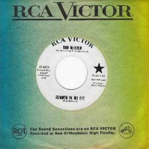 McKuen, Rod - Summer In My Eye/So Many Others (DJ advance pressing with vintage RCA company sleeve) - M10/ - 45 rpm Records