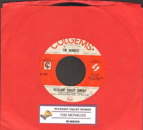 Monkees - Pleasant Valley Sunday/Words (with juke box label) - VG7/ - 45 rpm Records