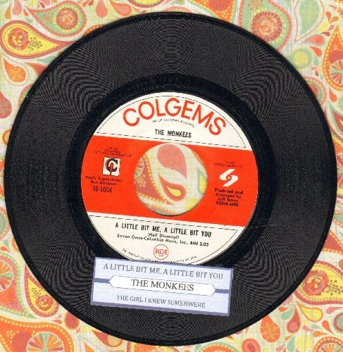 Monkees - A Little Bit Me, A Little Bit You/The Girl I Knew Somewhere (NICE condition with juke box label) - NM9/ - 45 rpm Records