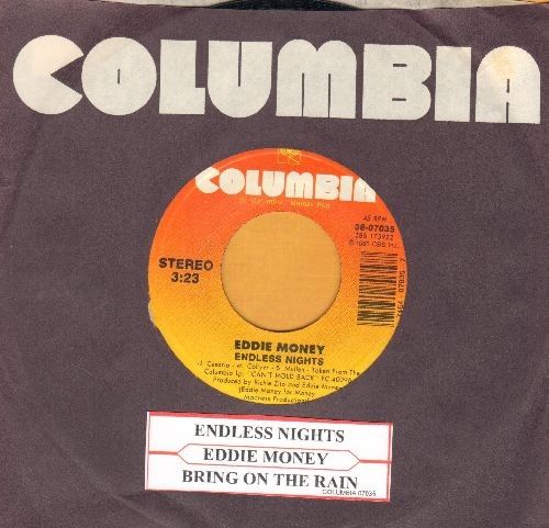 Money, Eddie - Endless Nights/Bring On The Rain (with juke box label and Columbia company sleeve) - NM9/ - 45 rpm Records