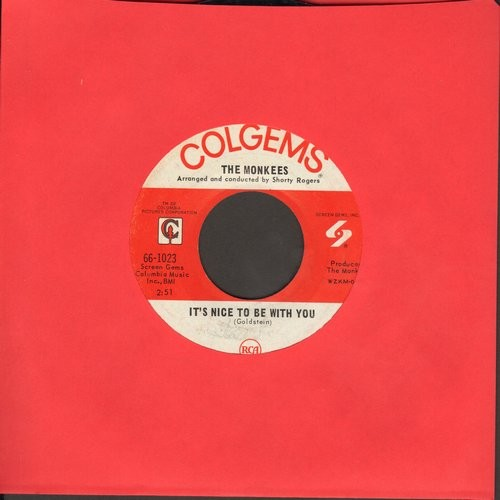 Monkees - D. W. Washburn/It's Nice To Be With You - VG7/ - 45 rpm Records