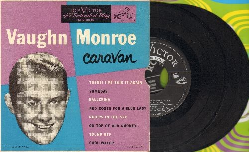 Monroe, Vaughn - Caravan: Cool Water/Ballerina/Riders In The Sky + 5 (2 vinyl EP records in gate-fold picutre cover) - NM9/EX8 - 45 rpm Records
