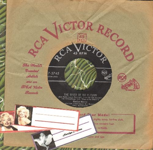 Monroe, Marilyn - River Of No Return/I'm Gonna File My Claim (RARE 1954 first issue with RCA company sleeve) - EX8/ - 45 rpm Records