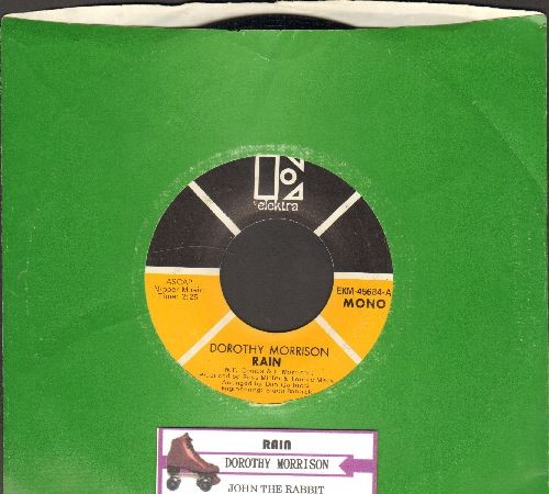Morrison, Dorothy - Rain/John The Rabbit (RARE R&B 2-sider, yellow/black label 1970 first issue with company sleeve and juke box label) - EX8/ - 45 rpm Records