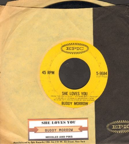 Morrow, Buddy - She Love You/Needles And Pins (with juke box label and Epic company sleeve) (sol) - NM9/ - 45 rpm Records