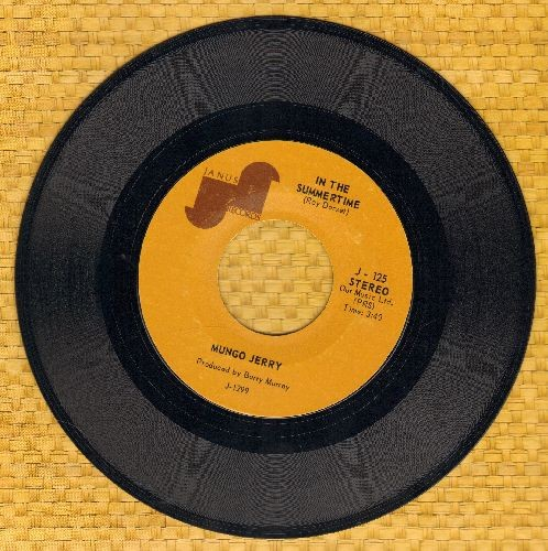 Mungo Jerry - In The Summertime/Mighty Man - EX8/ - 45 rpm Records