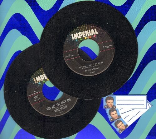 Nelson, Rick - 2 for 1 Special: Yes Sir, That's My Baby/You Are The Only One (2 vintage first issue 45rpm records with 3 blank juke box labels for the price of 1!) - VG7/ - 45 rpm Records