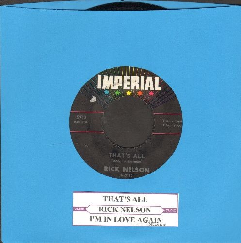 Nelson, Rick - That's All/I'm In Love Again (with juke box label) - NM9/ - 45 rpm Records